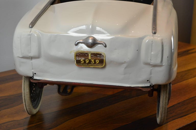 1960s Italian Metal Pedal Car By Giordani Bullet Nose