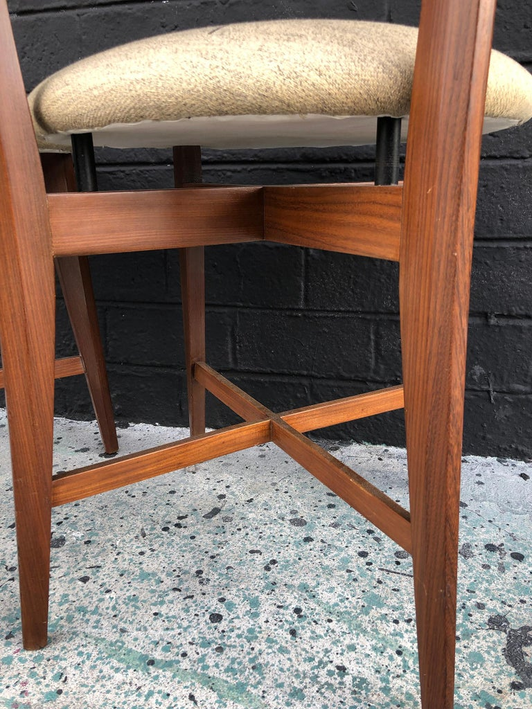Pair of 1960s Italian Modern Ladder Back Accent Chairs For Sale 2