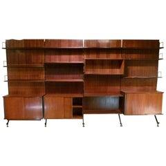 1960s Italian Modular Bookcase by Ico Parisi