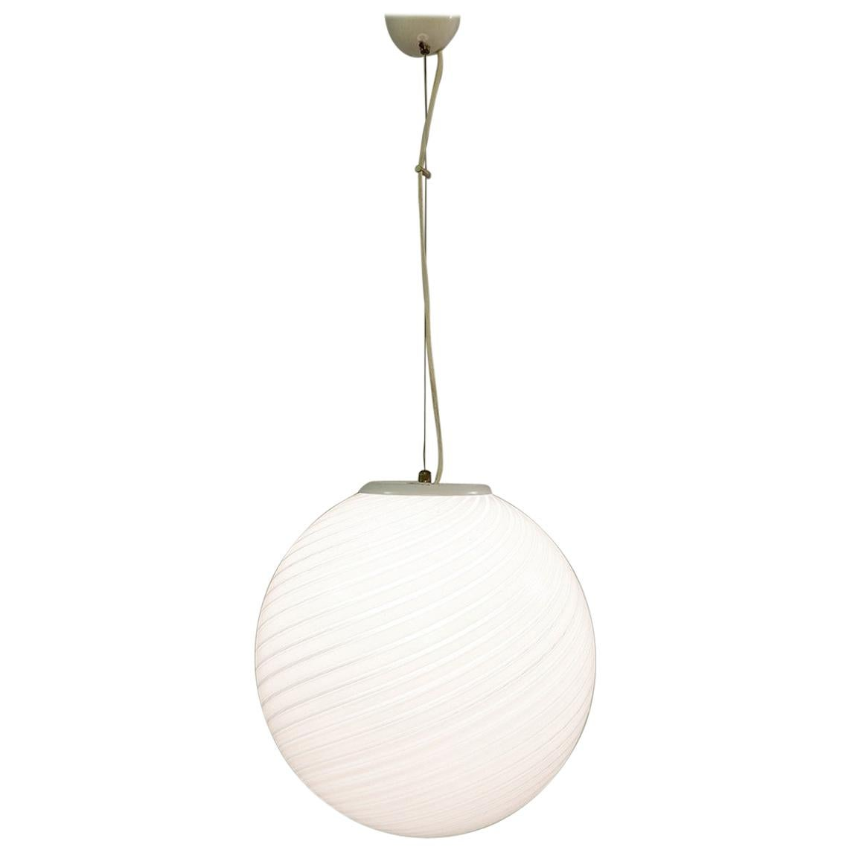 1960s Italian Murano Glass Globe by Venini