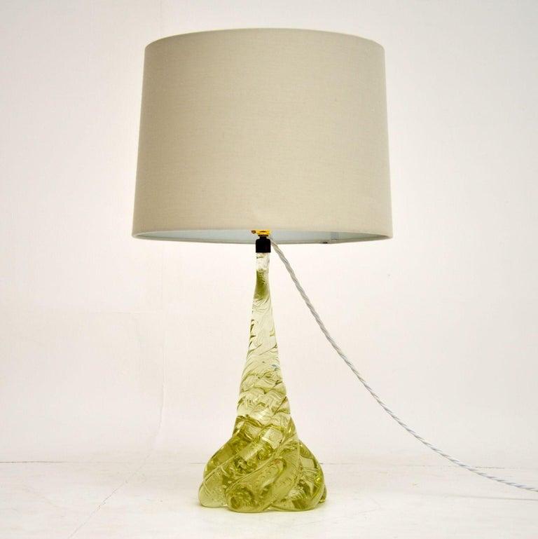 1960s Italian Murano Glass Table Lamp For Sale 1