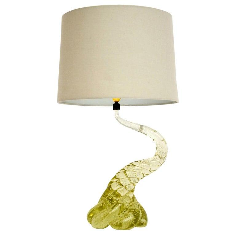 1960s Italian Murano Glass Table Lamp For Sale