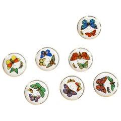 1960s Italian Porcelain Coasters by Bucciarelli Milano