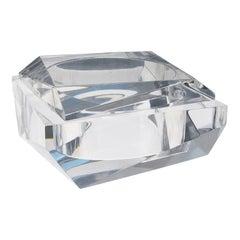1960s Italian Prismatic Lucite Box