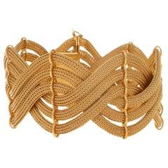 1960s Italian Rose Gold Braided Bracelet