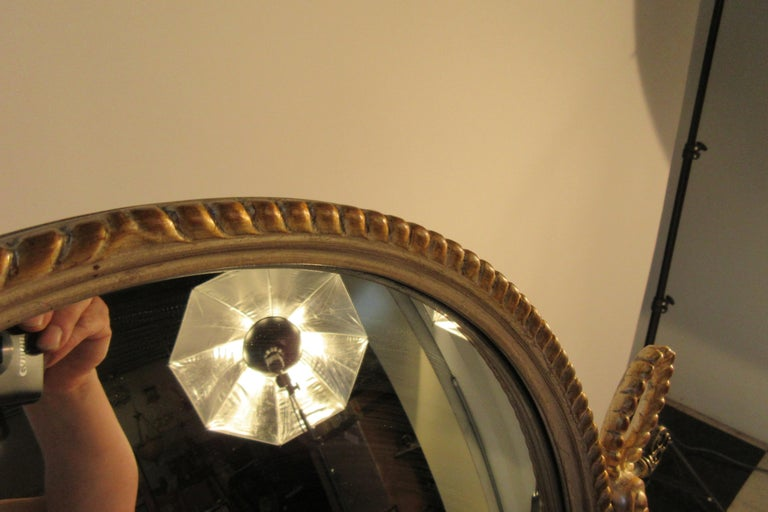 1960s Italian Silver and Gold-Painted Vanity Mirror For Sale 3
