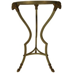 1960s Italian Steel and Brass End Table