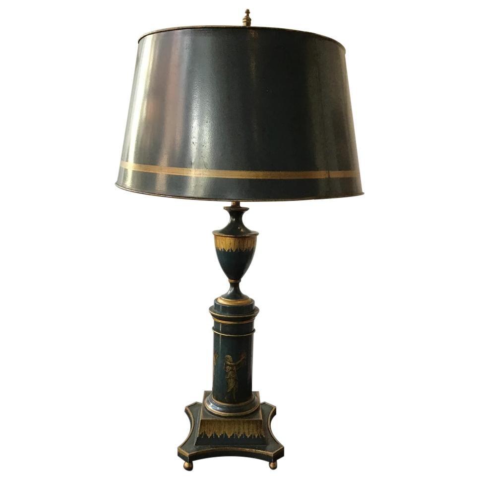 1960s Italian Tole Classical Lamp