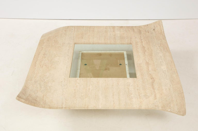 1960's Italian Travertine Cocktail Table For Sale 9