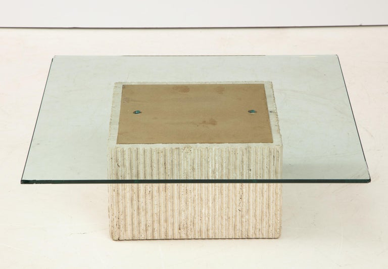 1960's Italian Travertine Cocktail Table For Sale 10