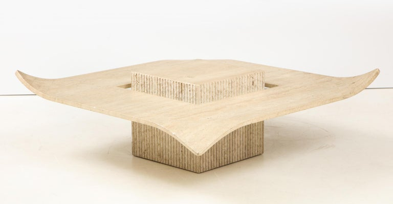1960's Italian Travertine Cocktail Table For Sale 4