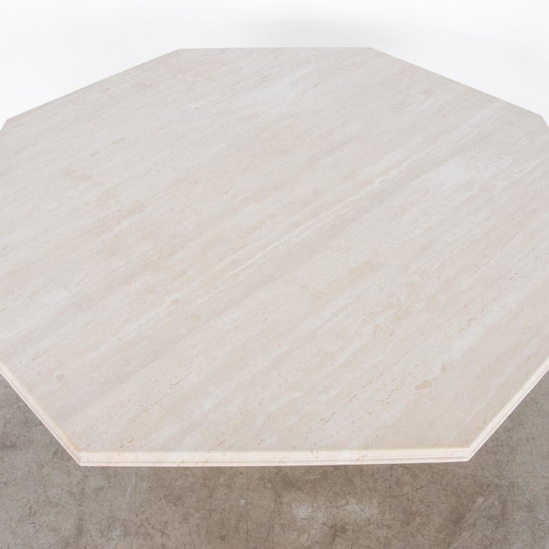 1960s Italian Travertine Octagonal Dining Table For Sale 3