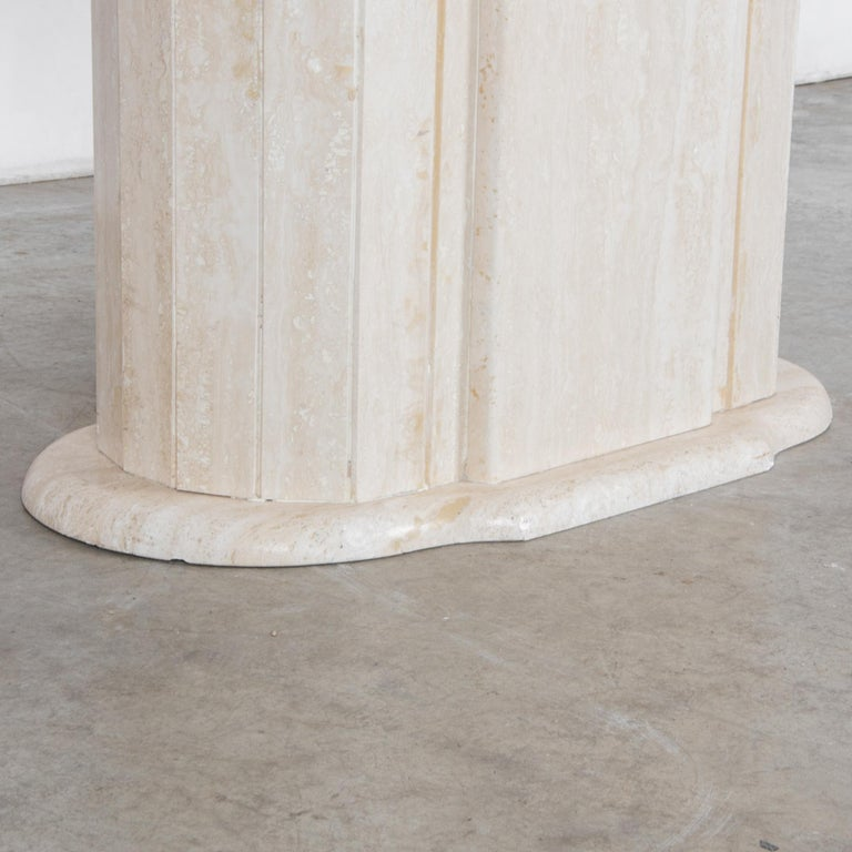 1960s Italian Travertine Pedestal Dining Table For Sale 3