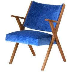 "1960s vintage Velvet Armchair by ""Dal Vera Ltd"""