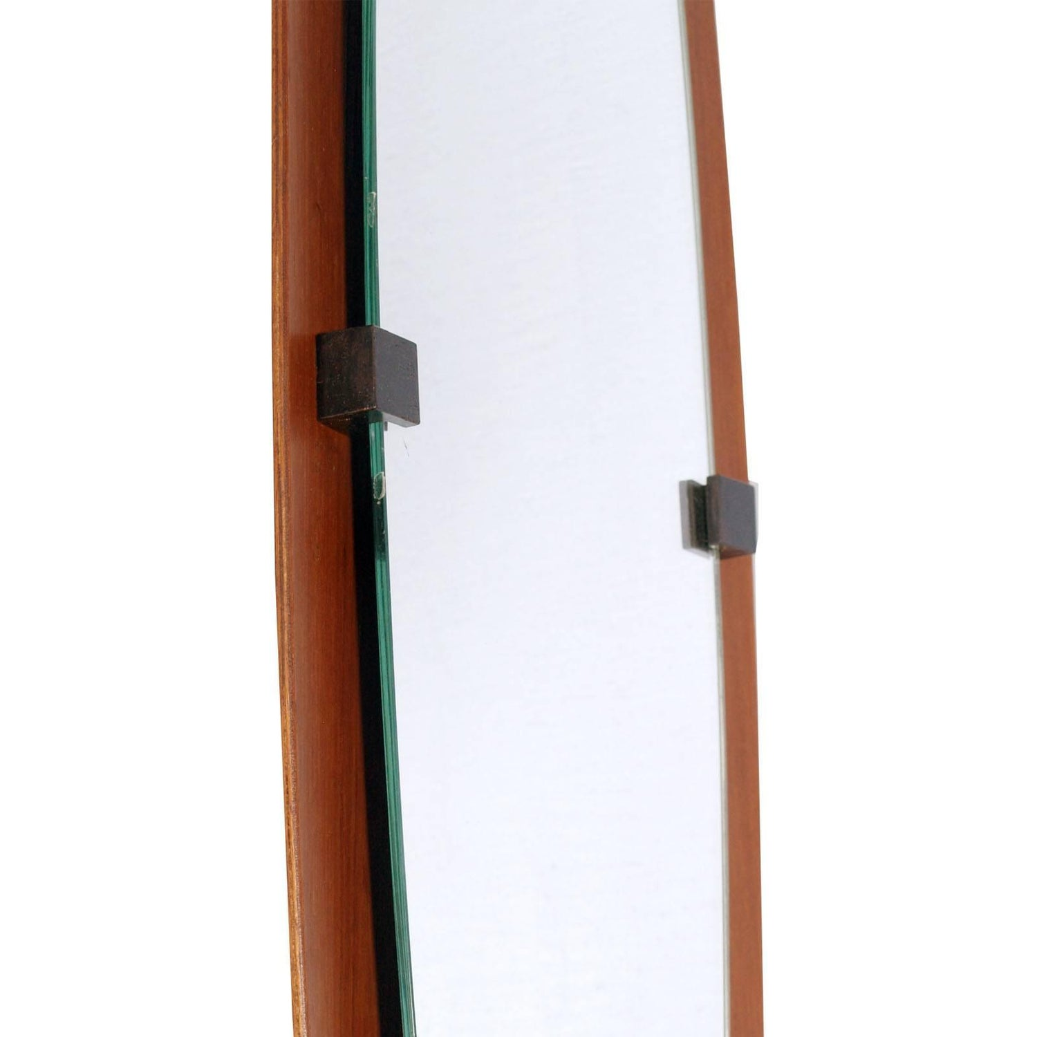 1960s Italian Wall Mirror, Bentwood Teack, Franco Campo and Carlo ...