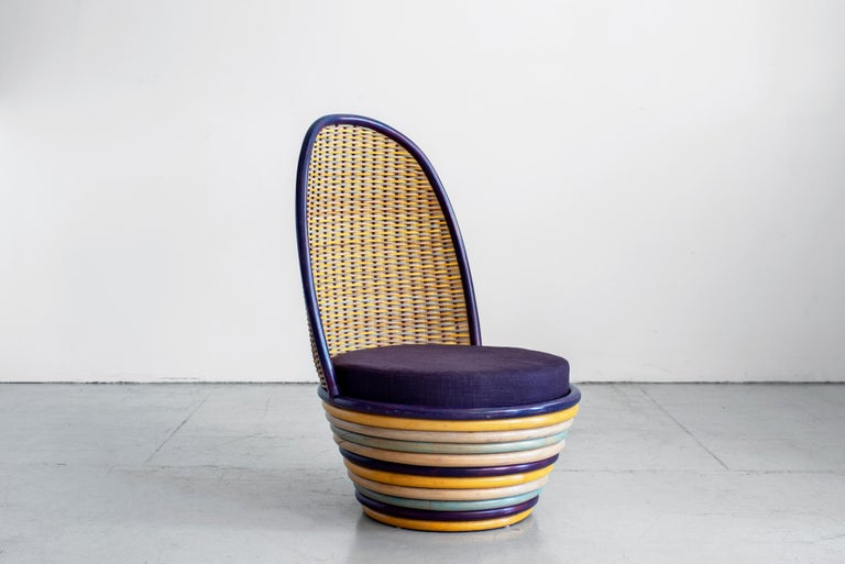 20th Century 1960s Italian Wicker Lounge Chairs For Sale