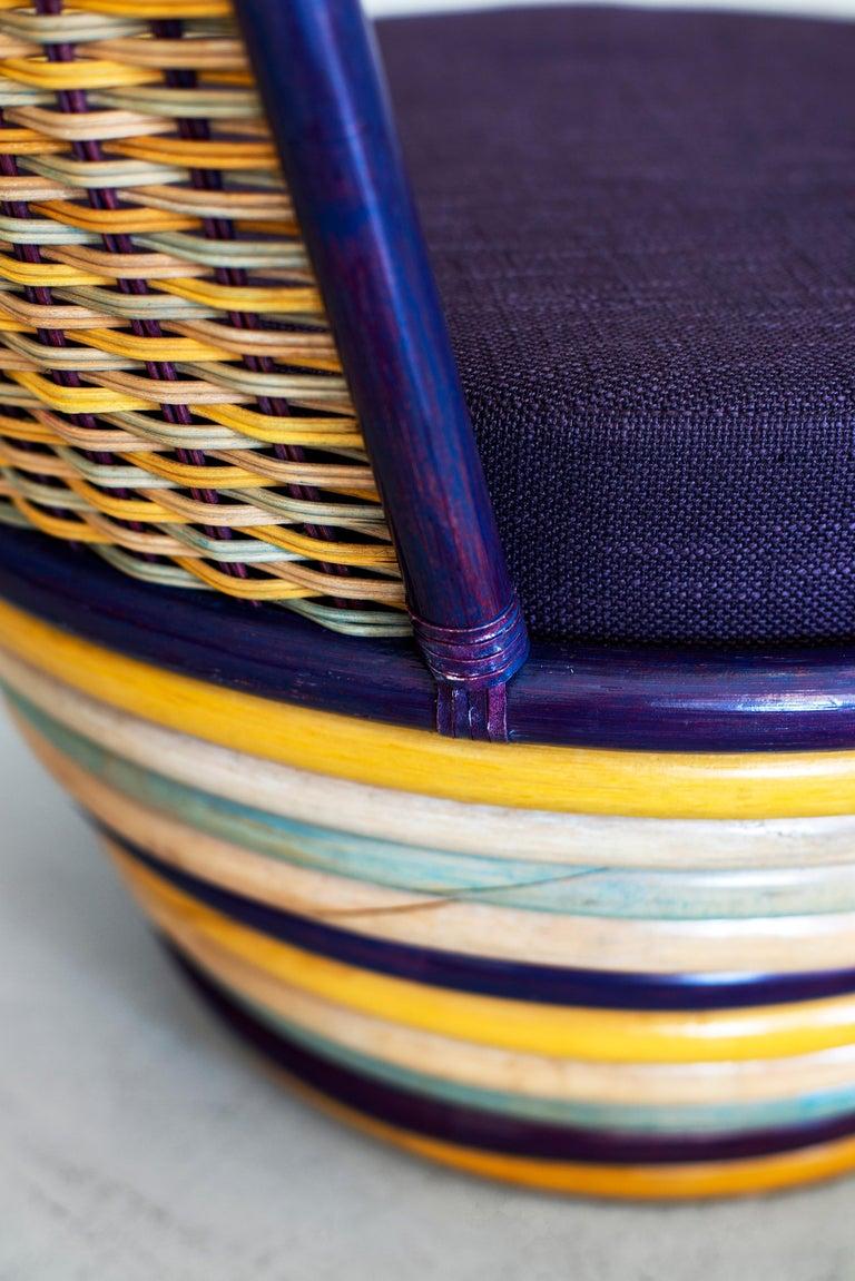 1960s Italian Wicker Lounge Chairs For Sale 3