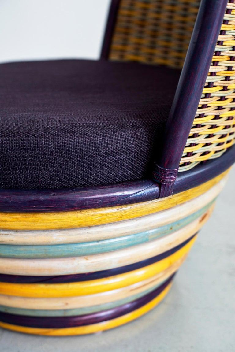 1960s Italian Wicker Lounge Chairs For Sale 5