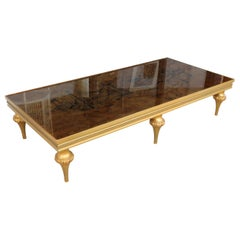 1960s Italianate Eglomise Coffee Table with Surrealist Scene