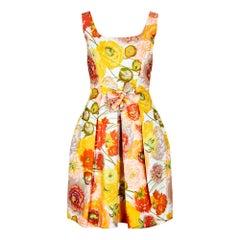 1960s Jacques Heim Pret a Porter Floral Cotton Dress