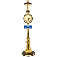 1960s Jaeger Lecoultre Rue De La Paix Lantern Table Desk Clock 8 Day Clock