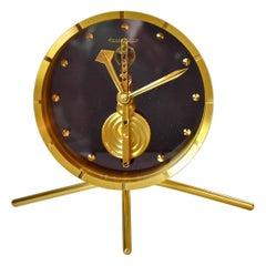 1960's Jaeger-LeCoultre Table Clock 8 Day Baguette Inline Movement Ref. 414