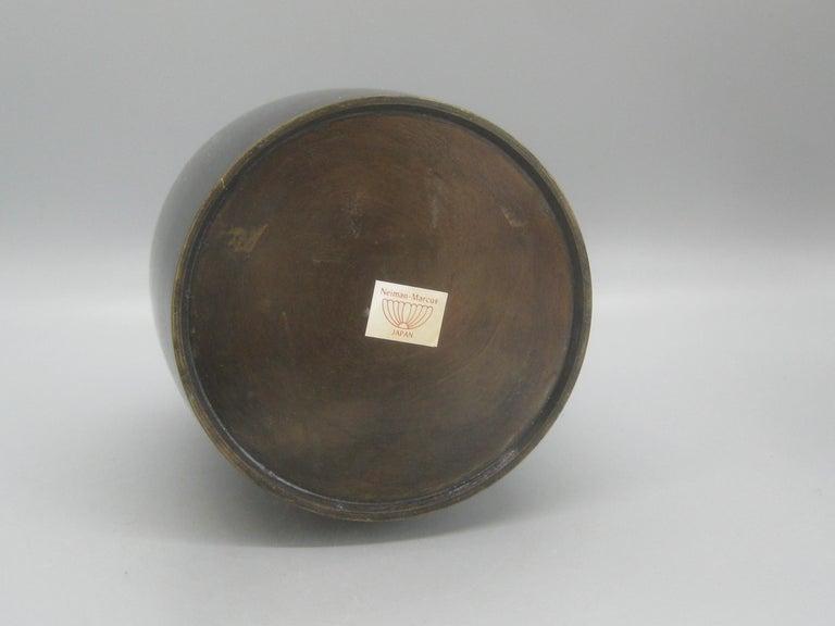 1960s Japanese Modernist Ikebana Bronze Vase Vessel for Neiman Marcus, Japan For Sale 7