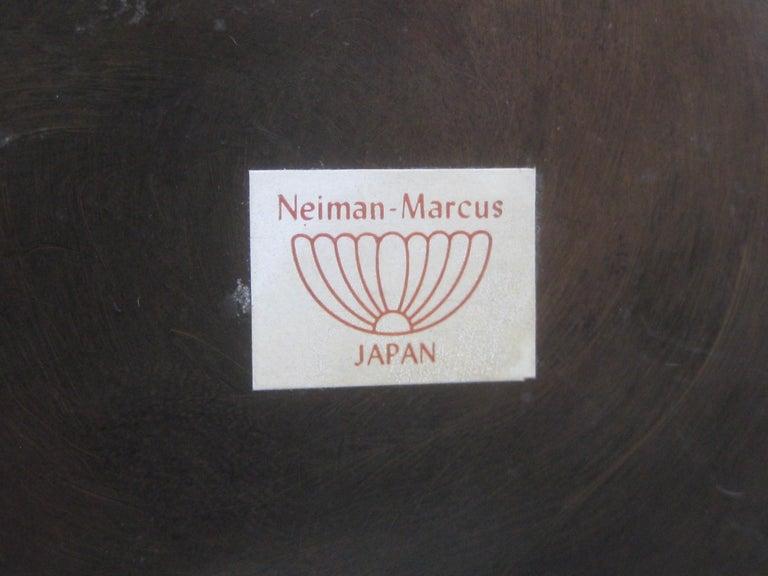 1960s Japanese Modernist Ikebana Bronze Vase Vessel for Neiman Marcus, Japan For Sale 8