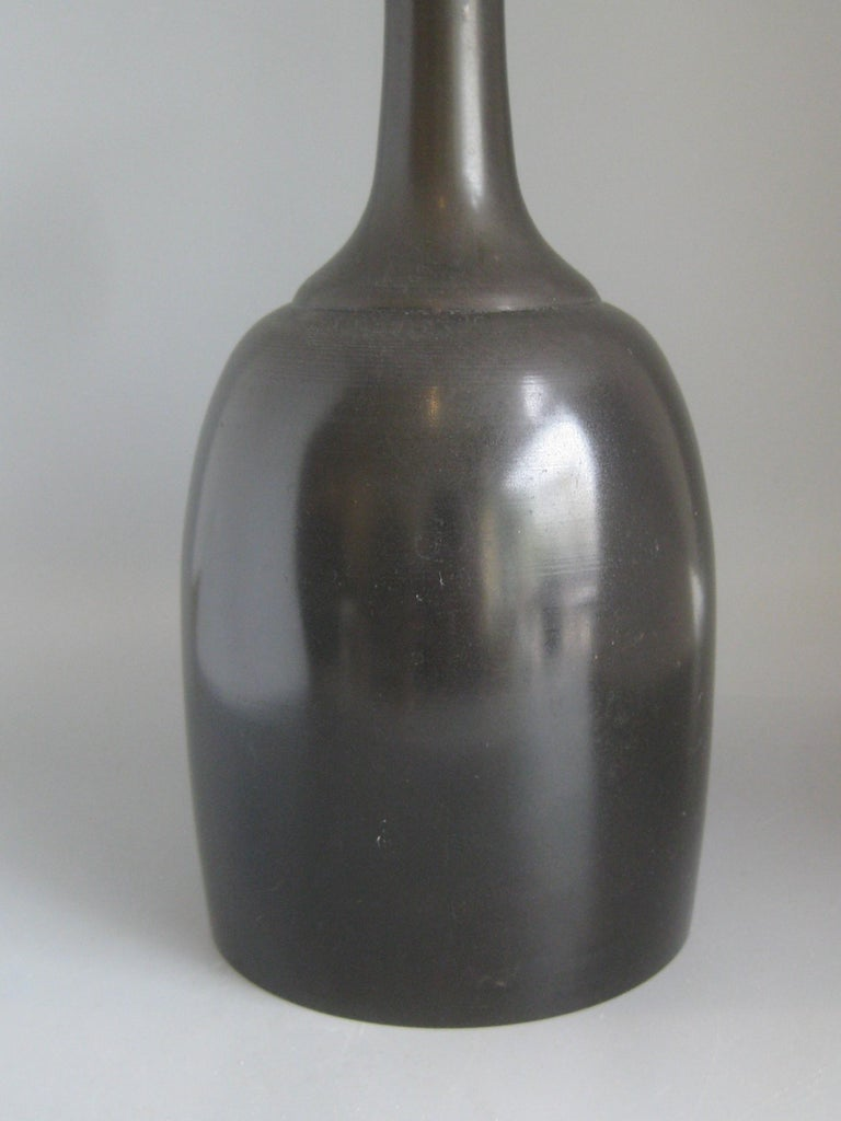 1960s Japanese Modernist Ikebana Bronze Vase Vessel for Neiman Marcus, Japan In Good Condition For Sale In San Diego, CA
