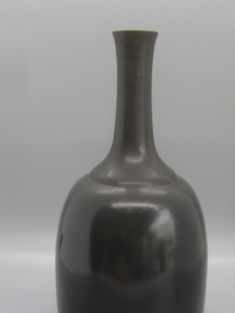 1960s Japanese Modernist Ikebana Bronze Vase Vessel for Neiman Marcus, Japan For Sale 4