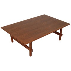 1960s Japanese Modernist Teak Coffee Table
