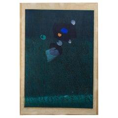 1960s Japanese Woodblock Abstract Hideo Hagiwara Germination Nº 5 1965 187/210