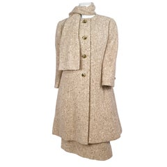 1960s Jean Louis Beige Tweed Suit