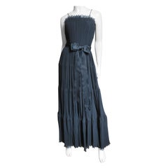 1960s Jean Louis Silk Tiered Dress