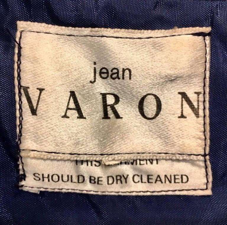 1960s Jean Varon Midnight Blue Evening Dress For Sale 1