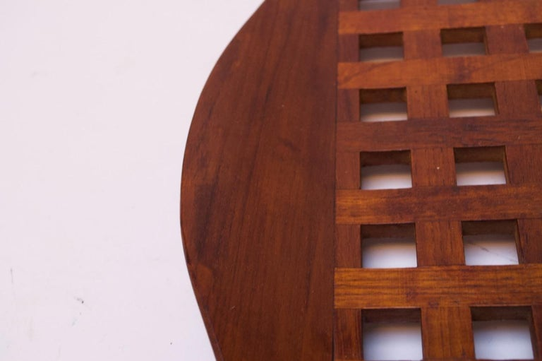 1960s Jens Quistgaard Dansk Teak Serving Tray with Glass Inserts New in Box For Sale 4