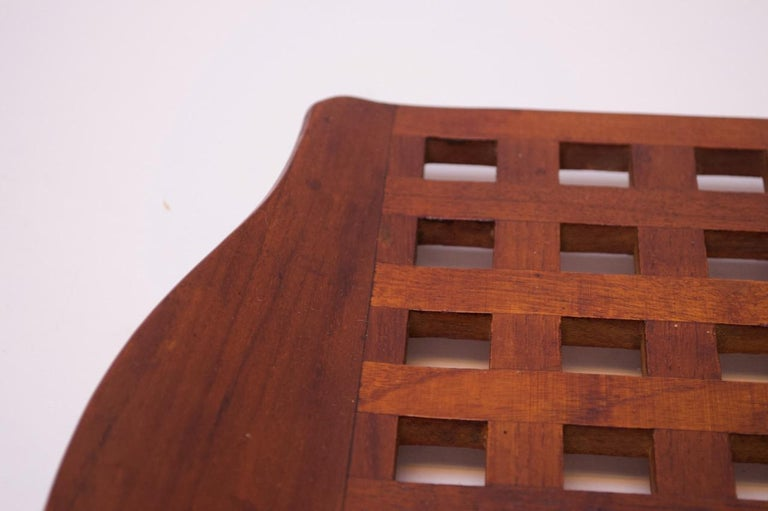 1960s Jens Quistgaard Dansk Teak Serving Tray with Glass Inserts New in Box For Sale 5
