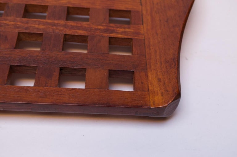 1960s Jens Quistgaard Dansk Teak Serving Tray with Glass Inserts New in Box For Sale 6