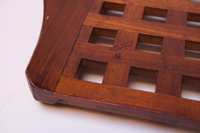 1960s Jens Quistgaard Dansk Teak Serving Tray with Glass Inserts New in Box For Sale 7