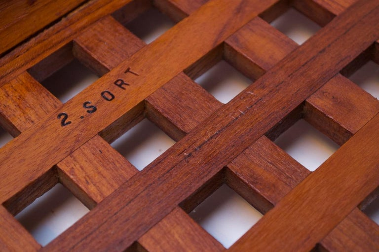 1960s Jens Quistgaard Dansk Teak Serving Tray with Glass Inserts New in Box For Sale 8