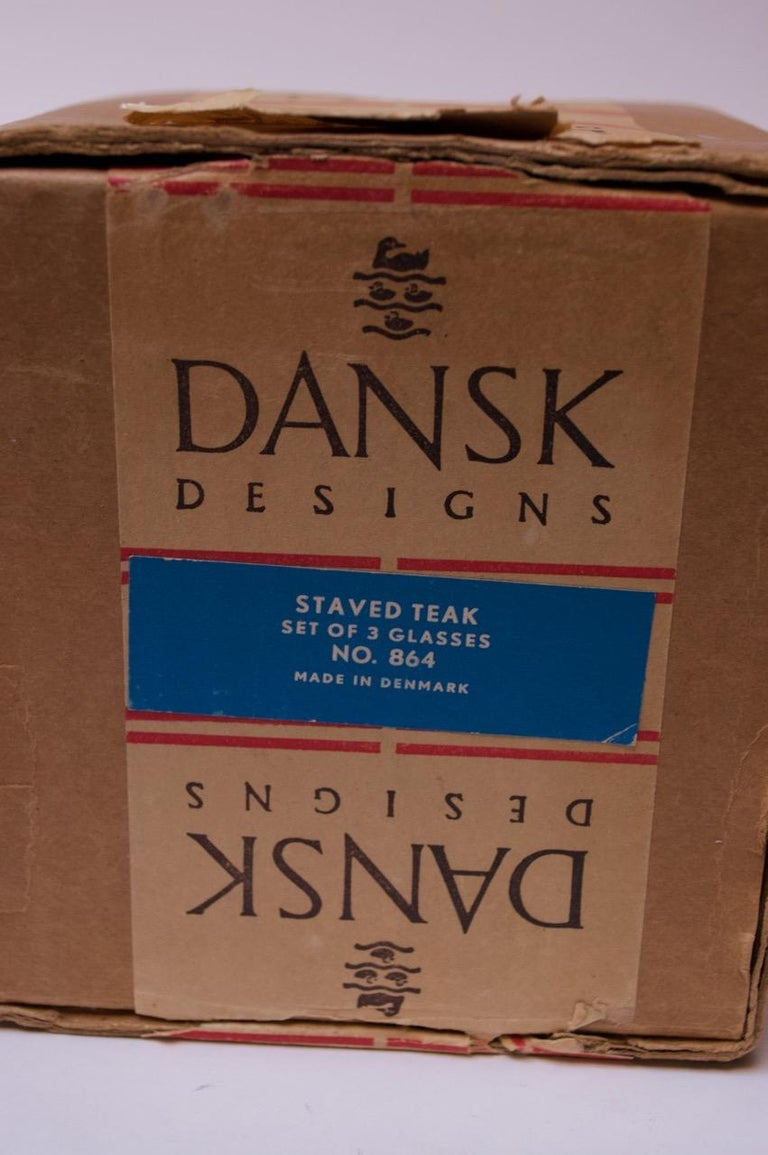 1960s Jens Quistgaard Dansk Teak Serving Tray with Glass Inserts New in Box For Sale 9