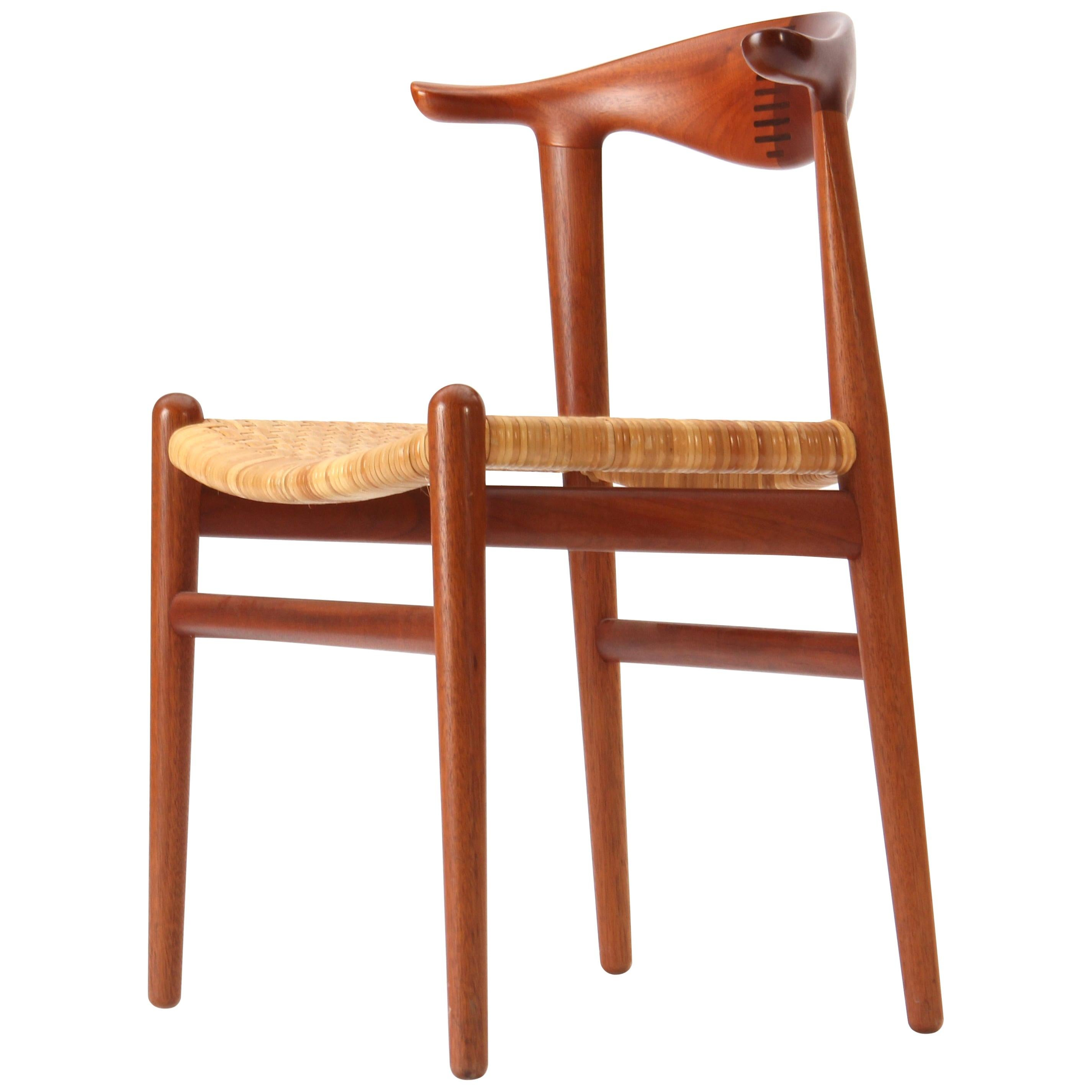 1960s JH-505 Teak Cow Horn Chair by Hans J. Wegner for Johannes Hansen