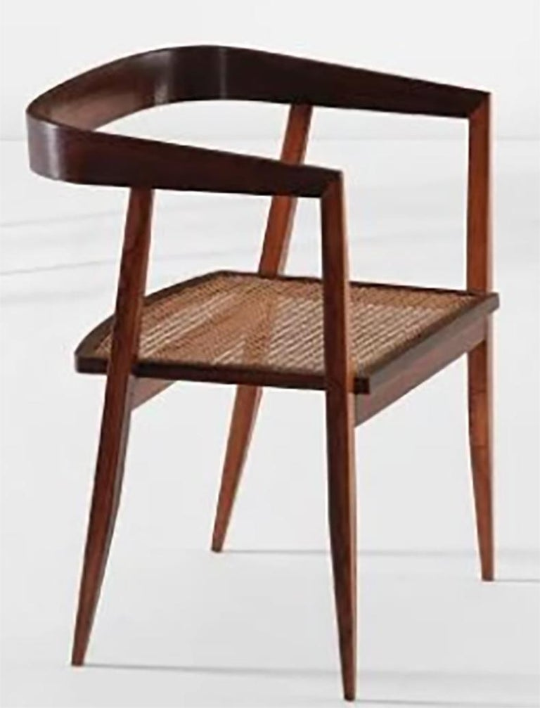Mid-20th Century 1960s Joaquim Tenreiro Brazilian Dining Chairs in Rosewood Set of Nine  For Sale
