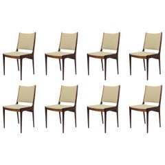 1960´s Eight Johannes Andersen Rosewood Dining Chairs - Inc. Reupholstery