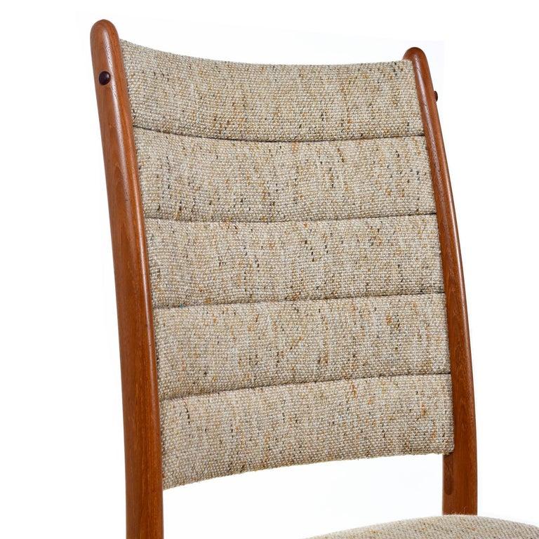 Danish 1960s Johannes Andersen Teak Dining Chairs 7171 for Uldum Møbelfabrik Set of Six For Sale
