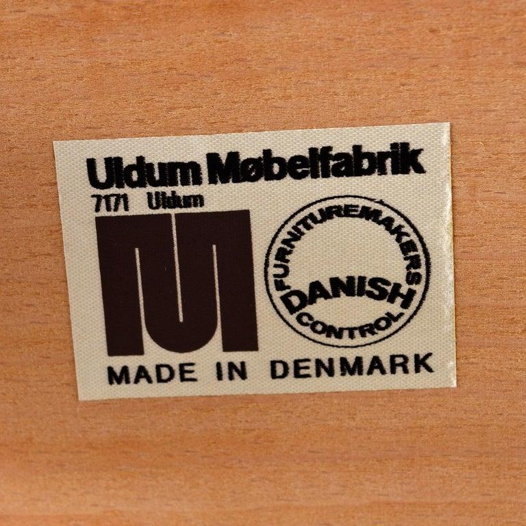Mid-20th Century 1960s Johannes Andersen Teak Dining Chairs 7171 for Uldum Møbelfabrik Set of Six For Sale
