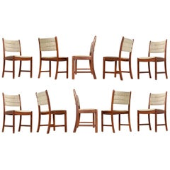 1960s Johannes Andersen Teak Dining Chairs 7171 for Uldum Møbelfabrik Set of Ten