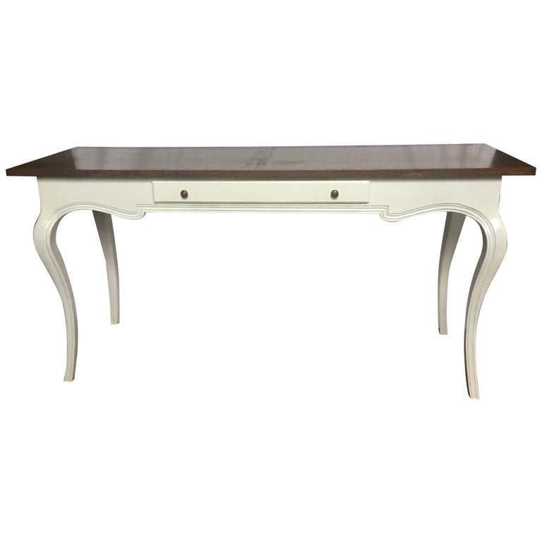 1960s John Stuart French Provincial Style Console Sofa Table or Desk For Sale