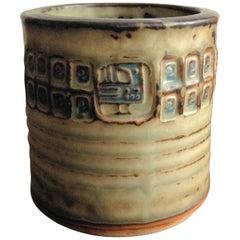 1960s Jorgen Mogensen Vase in Stoneware by Royal Copenhagen