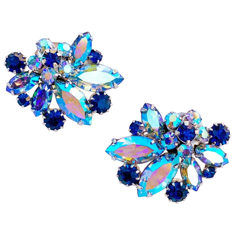 Matching Necklace /& earring Sparkling 1960 VENDOME Czech Crystal Pururer Set Beautiful Fall Colors Topaz Aurora Borealis Gold. Bracelet